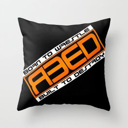 Shawn Reed Born To Wrestle Throw Pillow