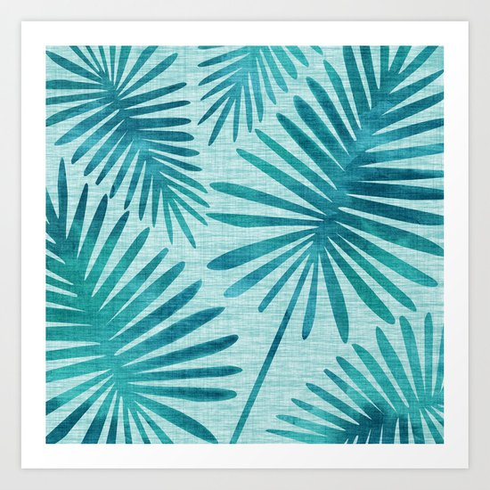 Mid Century Tiki Fronds by kristiangallagher