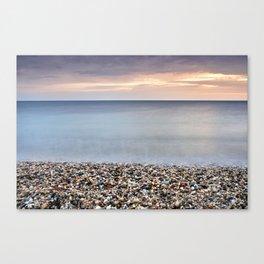 Bright Stones At The Amoladeras Beach Canvas Print