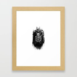 Black Swordsman Framed Art Print