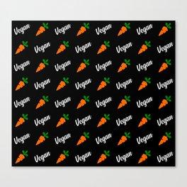 carrot vegan pattern Canvas Print