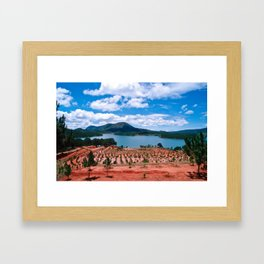 Magic Lake of Central Highland in Vietnam Framed Art Print