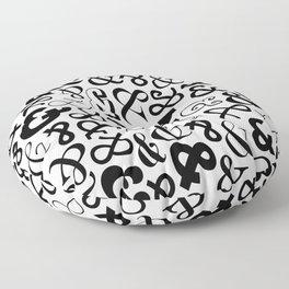 Ampersands on Ampersands Floor Pillow