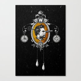 The Watchmaker (black version) Canvas Print