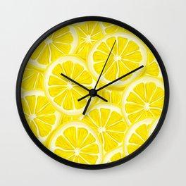 Splash of Lemon Watercolor Wall Clock