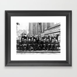 World-Renowned Physicists of 1927 at Solvay Conference Framed Art Print