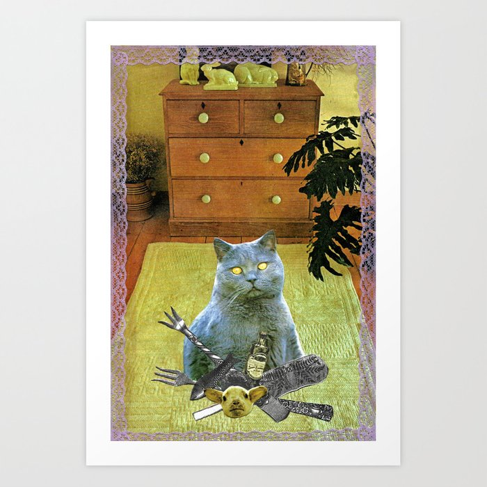 I had to get my own dinner handcut collage Art Print