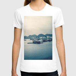 Grey Gloomy Day in Ha Long Bay, Vietnam. Travel Photography. T-shirt