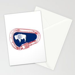Wyoming Flag Climbing Carabiner Stationery Cards