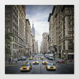NEW YORK CITY 5th Avenue Street Scene Canvas Print