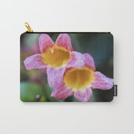Tangerine Beauty Cross Vine Pair Carry-All Pouch