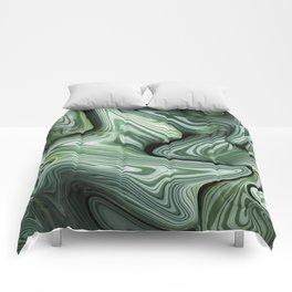 Sinking in Green Comforters