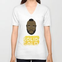 solid V-neck T-shirts featuring Solid Gold by Chase Kunz