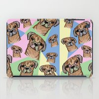 pugs iPad Cases featuring square pugs by lindseyclare