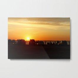 cars at sunset Metal Print