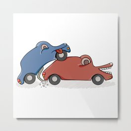 accident of two cars Metal Print