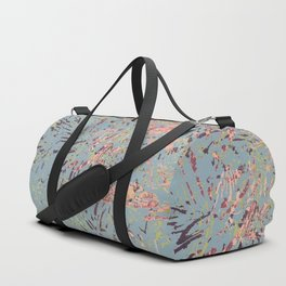 Sage Pine leaves Abstract Pattern Duffle Bag