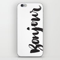 bonjour iPhone & iPod Skins featuring bonjour by Matthew Taylor Wilson