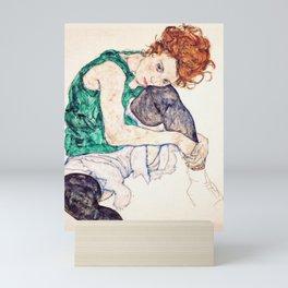 Egon Schiele - Seated Woman with Bent Knee Mini Art Print