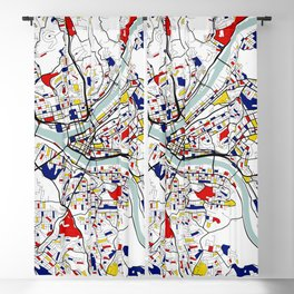 Pittsburgh City Map of the United States - Mondrian Blackout Curtain