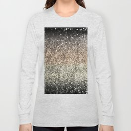 Sparkling GOLD BLACK Lady Glitter #2 #decor #art #society6 Long Sleeve T-shirt