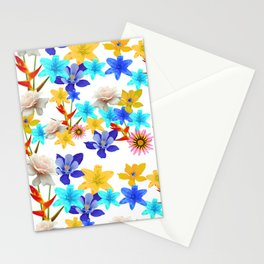 Multi Color floral texture Stationery Cards
