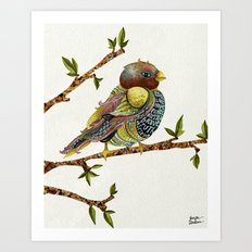 Positivity Bird Art Print