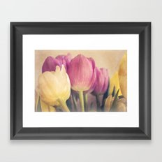 Tulips retro #1 Framed Art Print