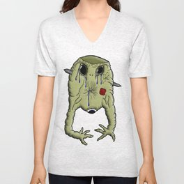 Gelatin Creature After Guillotine Unisex V-Neck