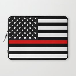 Thin Red Line American Flag Laptop Sleeve