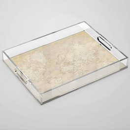 Vintage world map in sepia and gold, Kellen Acrylic Tray