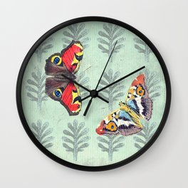 Summer's sojourn with butterflies Wall Clock