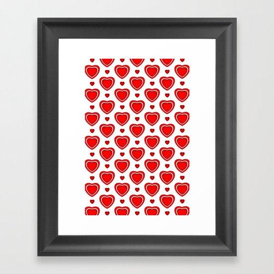Valentine in White Framed Art Print