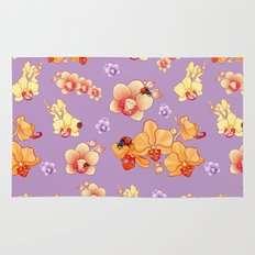 Orchids & Ladybirds Rug