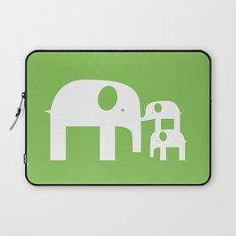 Green Elephants Laptop Sleeve