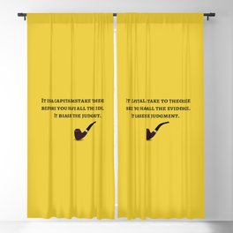 The Sherlock Holmes Quote IV Blackout Curtain