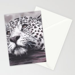 Leopard with Hearts Stationery Cards