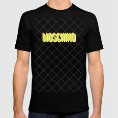 MOSCHINO Quilted Bag MEDIUM Mens Fitted Tee Black