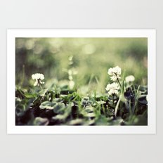 morning flowers fading Art Print