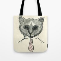 mr fox Tote Bags featuring Mr. Fox by Shiroshi