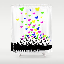 Younisi Peace  Shower Curtain