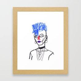 Mohawk girl Framed Art Print
