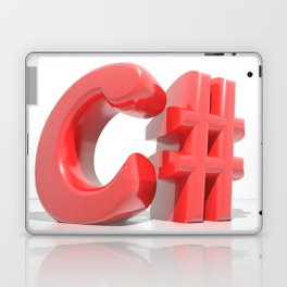 C# Red Laptop & iPad Skin