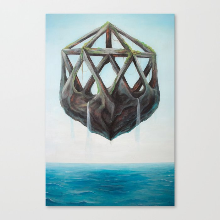 Floating Rock Canvas Print