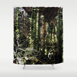 Cactus Garden Letters 2 Shower Curtain