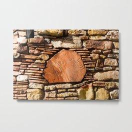 Desert Watchtower Wall Detail. Grand Canyon. Arizona. USA. Metal Print