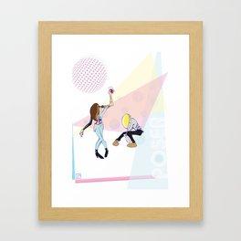 Poser - Disco Framed Art Print