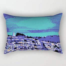 Night Over the San Francisco Mission Rectangular Pillow