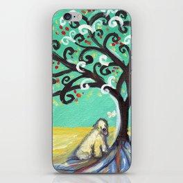 Whimsical Wheaten Terrier spiritual tree butterfly iPhone Skin