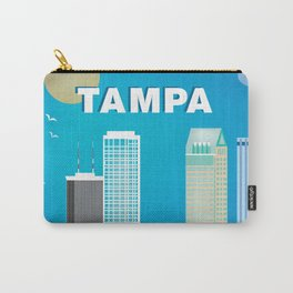 Tampa, Florida - Skyline Illustration by Loose Petals Carry-All Pouch